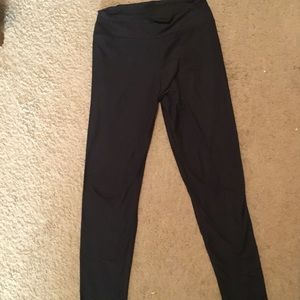 Black lularoe OS leggings, made in Vietnam